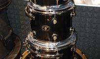 Tamburo Schlagzeug Kesselset Schwarz