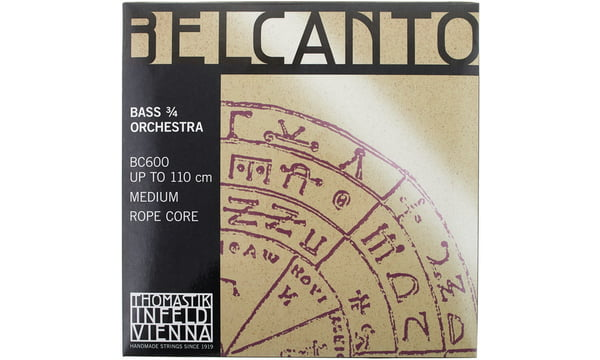 Thomastik Belcanto Bass String  Set 3//4  SOLO Tuning