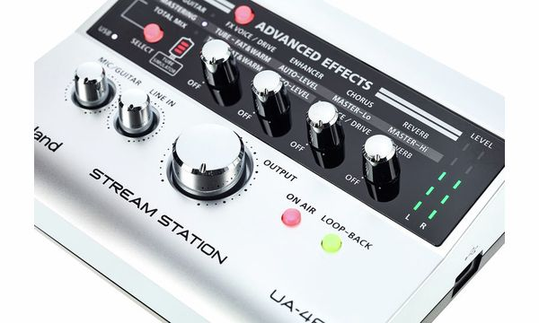 The Best Roland Ua-4fx Ii Stream Station Audio Interface Pure White And Translucent Pro Audio Equipment