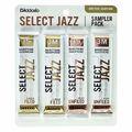 DAddario Woodwinds Select Jazz Bari Sampler Pck 3