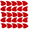 276. Sharkfin Pick Relief Soft Red