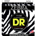 52. DR Strings Zebra A/E Medium Lite Set