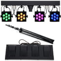 24. Stairville CLB4 Compact LED Bar 4 Bundle