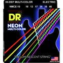 96. DR Strings HiDef Multi Color Neon E 10