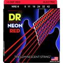 85. DR Strings HiDef Red Neon Lite 09-42