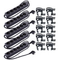 3. Stairville Snap black 10 pcs Bundle 6-way