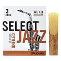 186. DAddario Woodwinds Select Jazz Unfiled Alto 3H