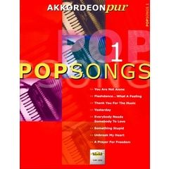 Holzschuh Verlag Akkordeon Pur Popsongs 1