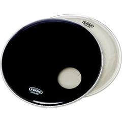 "Evans 22"" Bass Drum Head Set Black"