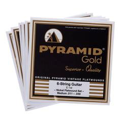 Pyramid Gold Flatwound 011-048