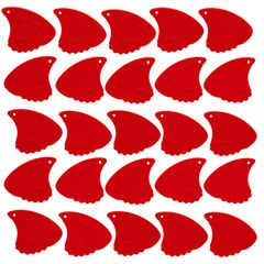 Sharkfin Pick Relief Soft Red