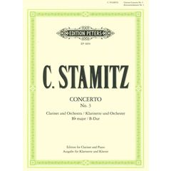 Edition Peters Stamitz Konzert Nr. 3 B-Dur Cl