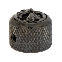 Q-Parts Dome Potiknob Cross Black