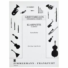 Zimmermann Verlag Grifftabelle Klarinette Boehm