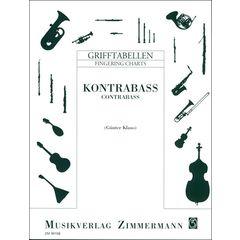 Zimmermann Verlag Grifftabelle Kontrabass