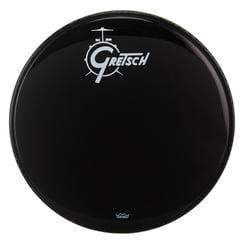 "Gretsch 20"" Bass Drum Head Black/Logo"