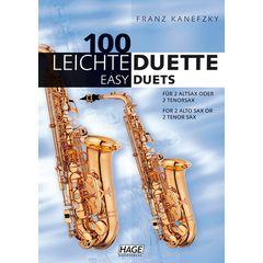 Hage Musikverlag 100 Leichte Duette Saxophon