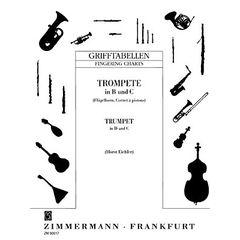 Zimmermann Verlag Fingering Chart Trumpet