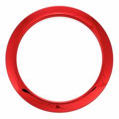 "Bass Drum O's 4"" Red Chrome round HCR4"