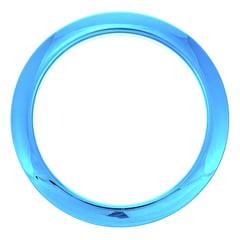 """Bass Drum O's 4"""" Blue Chrome round HCB4"""