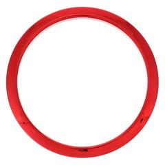 "Bass Drum O's 6"" Red Chrome round HCR6"