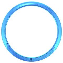 """Bass Drum O's 6"""" Blue Chrome round HCB6"""