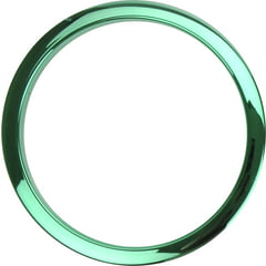 """Bass Drum O's 6"""" Green Chrome round HCG6"""
