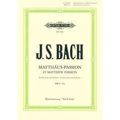 Edition Peters Bach Matthäus-Passion BWV 244