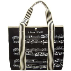 Music Sales Canvas Tote Bag Sheet Music