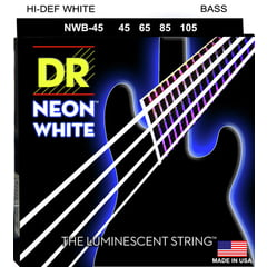 DR Strings HiDef White Neon Bass 45/105