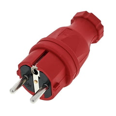PCE Rubber Safety Plug EU Red