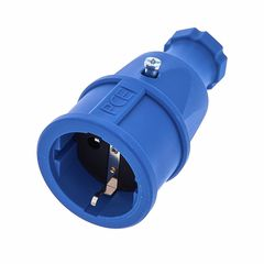 PCE Rubber Safety Socket EU Blue