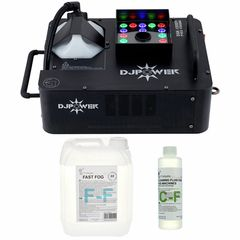 DJ Power DSK-1500V Fog Machine Bundle