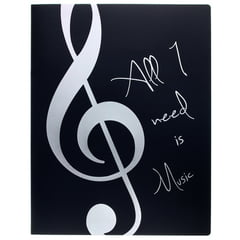 agifty Music Folder ViolinClef Silver