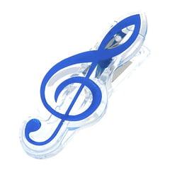 agifty Music Clip Violin Clef Blue