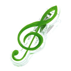 agifty Music Clip Violin Clef Green