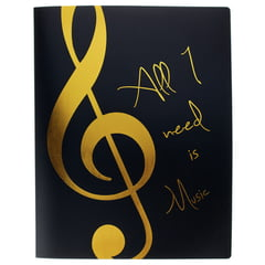agifty Music Folder Violin Clef Gold