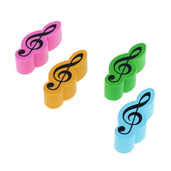 agifty Eraser Violin Clef 4er Set