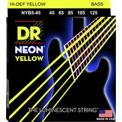 DR Strings HiDef Yellow Neon Medium 5