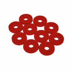 Colour Your Drum Cymbal Felts Red