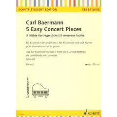 Schott Baermann 5 Easy Concert Pieces