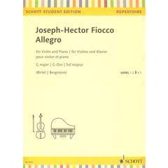 Schott Fiocco Allegro G major