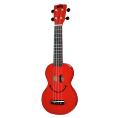 Mahalo Smiley Ukulele Red