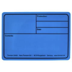 Stairville Tourlabel 177x127mm Blue