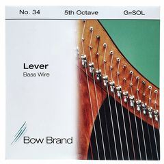 Bow Brand BW 5th G Harp Bass Wire No.34