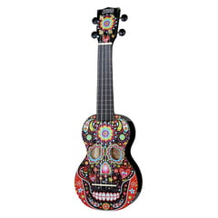 Mahalo Skull Ukulele Day of the Dead
