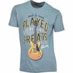 Gibson T-Shirt Played By. Blue XXL