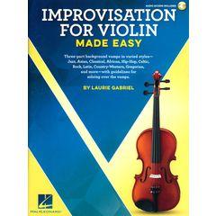 Hal Leonard Improvisation For Violin