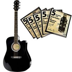 Fender Squier SA-105CE BK Bundle 2