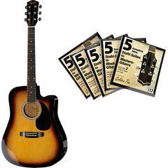 Fender Squier SA-105CE SB Bundle 3